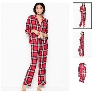 NWT Victoria's Secret two piece flannel plaid pjs